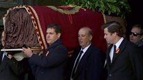 بالفيديو: نقل تابوت الدكتاتور الإسباني