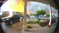 Family flees fast-moving California wildfire