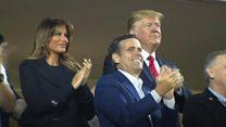 Trump booed at baseball match
