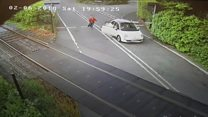 CCTV released showing level crossing near misses