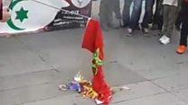 من هي حليمة زين التي أحرقت العلم المغربي في باريس؟