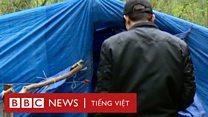 Người Việt di cư dựng trại tại Pháp, đợi đi lậu qua Anh