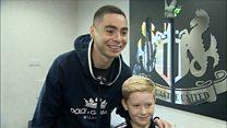 Ballboy meets NUFC star after viral thumbs up