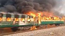 पाकिस्तान में ट्रेन में लगी आग, 65 की मौत