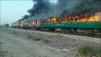آتشسوزی قطار در پاکستان بیش از 70 کشته به جا گذاشت