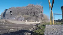 Massive blast brings down more of power station