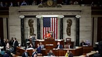 The moment US House votes for impeachment inquiry