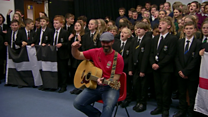 Schools record Sweet Chariot to support England
