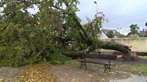 Storm Amélie batters southern France