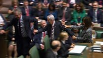Moment new Speaker dragged to the chair