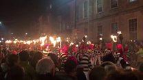 Thousands attend bonfire parade