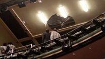 Actor apologises for theatre roof collapse
