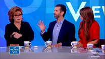 Donald Trump Jr clashes with talk show hosts