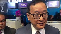 Sam Rainsy: 'I was barred from boarding a flight home'