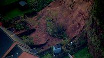 Watch: Aerial views of Mansfield mudslide