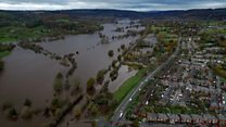 Aerial video shows extent of flooding