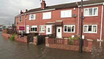 Life on a flooded Doncaster street