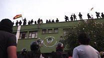 Bolivian police protest against President Morales