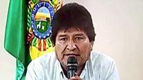 Bolivia's president announces resignation