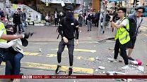 ဟောင်ကောင်ဆန္ဒပြပွဲ အဓိကရုဏ်းတွေအတွင်း လူ နှစ်ဦး အရေးပေါ် အခြေအနေရောက်