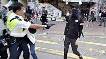 Гонконг: у демонстранта вистелили впритул