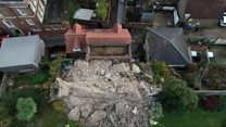 Castle wall collapses
