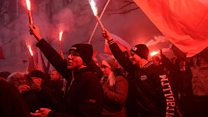 Polish nationalists hold huge Warsaw march