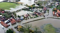 Doncaster flooding seen from the air