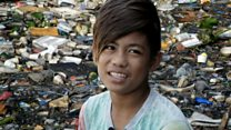 The boy risking his life to collect plastic waste