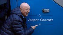 Comic Jasper Carrott unveils tram honour