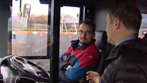 UK's first full-size 'driverless' bus tested in Glasgow
