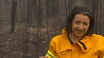 Australia bushfires: 'The earth here is scorched'