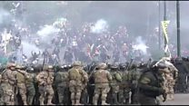 Tear gas fired as Bolivia clashes escalate