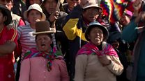 Indigenous Bolivians rally for Evo Morales