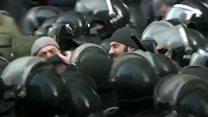 Протесты в Грузии. Видео
