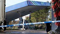CCTV shows cash machine theft bid at petrol station