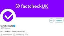 Questions over 'factcheckUK'