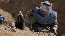 The women removing landmines in Afghanistan