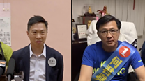 A winner and a loser of Hong Kong's elections