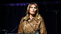 Melania Trump booed on stage in Baltimore