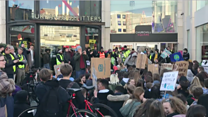 Climate protest at shopping centre