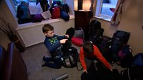 Seven-year-old collects and fills rucksacks for homeless