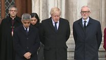 Moment of silence at London Bridge victims vigil