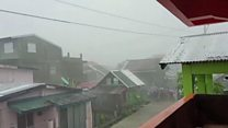 Philippine homes battered by fierce typhoon