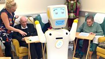 Robot care worker finds new job