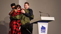 The moment all four Turner Prize nominees won
