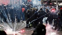 Protests and clashes in Paris over pension reform