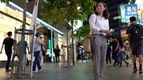 香港示威浪潮中参选区议员的辞职女警