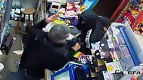 Shopkeeper fights of armed robber