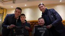 Ronaldo and Buffon meet boys who survived quake